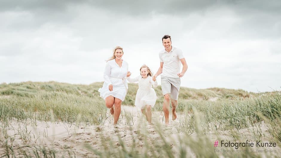 Familien Fotoshooting am Strand von St. Peter-Ording